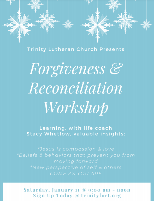 Forgiveness & Reconciliation Workshop
