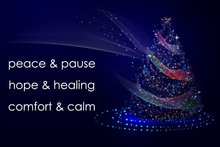 Blue Christmas service at Trinity - peace & pause, hope & healing, comfort & calm