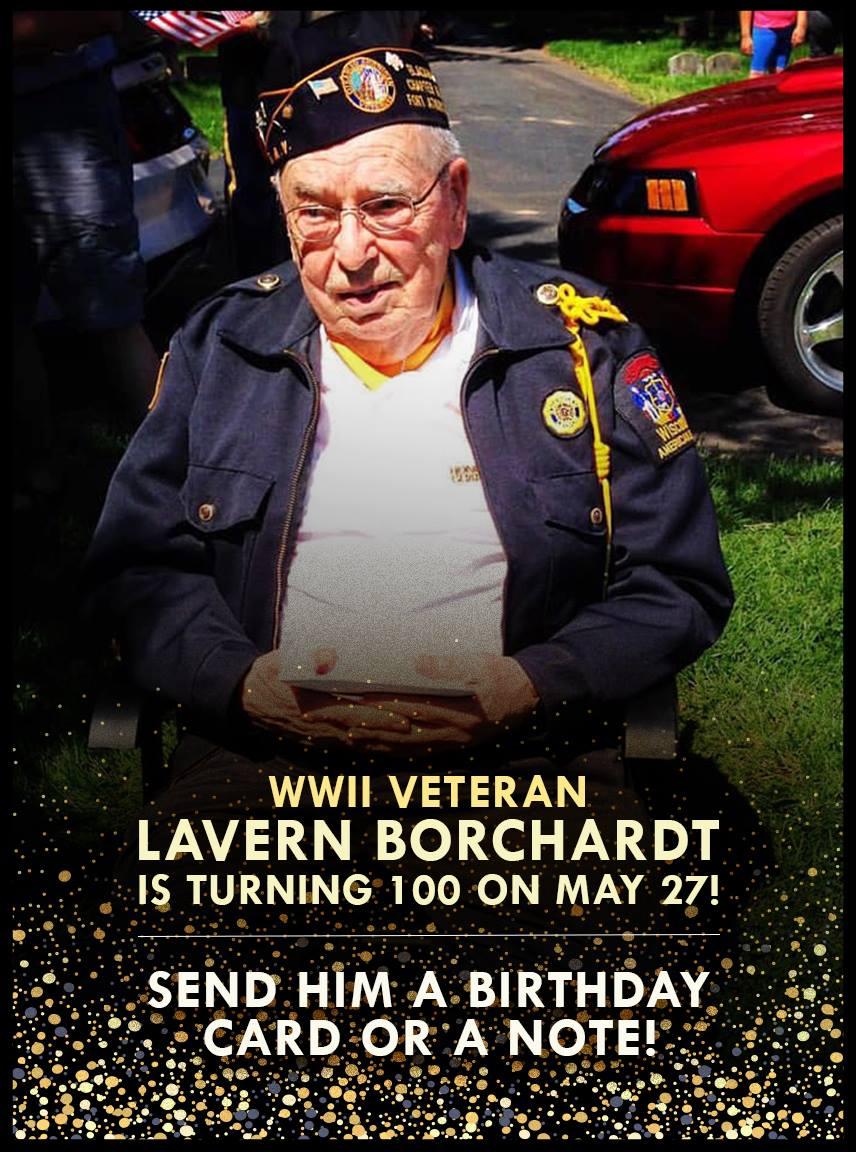 Lavern Borchardt turning 100