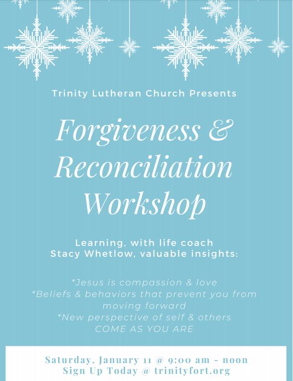 Forgiveness & Reconciliation Workshop