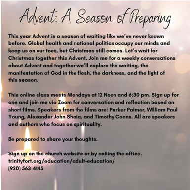 Advent: A Season of Preparing