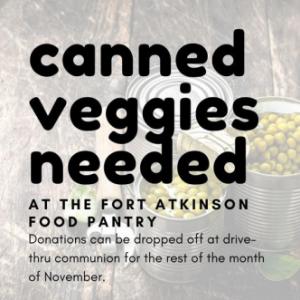 Canned Veggies Needed