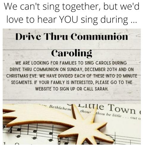 Drive Thru Caroling