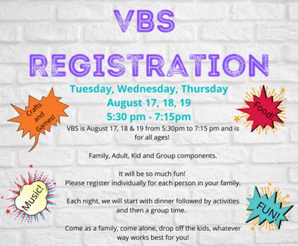 VBS registration 2021